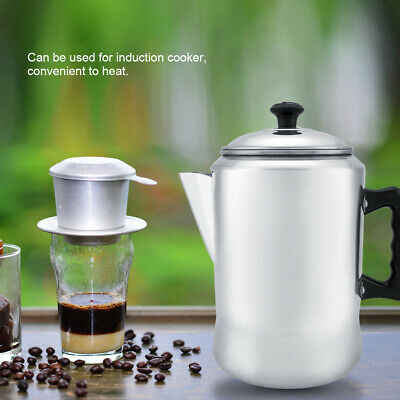 Aluminum Alloy Stovetop Espresso Coffee Maker Percolator Pot Moka Tool Lid Home