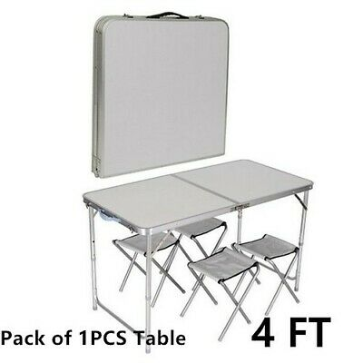 4FT Heavy Duty Folding Table Portable Camping Picnic Garden Party BBQ Outdoor UK
