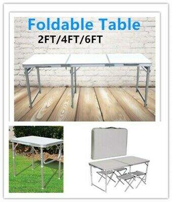 2/4/6FT Folding Table Camping Picnic Garden Party BBQ Room Portable Adjustable