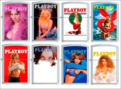 Zippo Lighter PLAYBOY Cover Magazine Pin Up Vintage Playmate Sexy Girl MIB