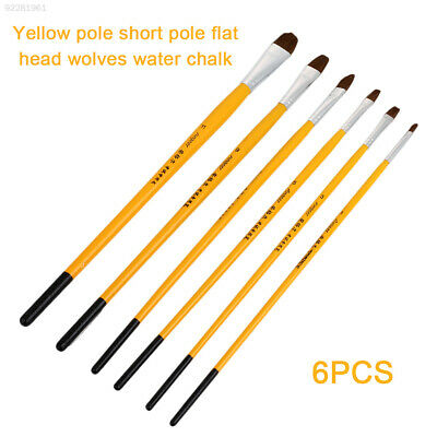 FF66 6pcs/Set Painting Brush Hair Pencil Draw Gouache Acrylic Painting