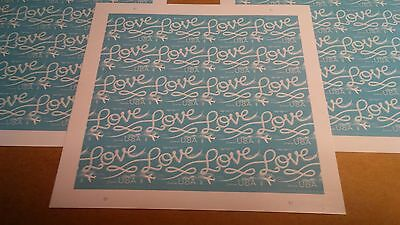 US #5155 Love Skywriting Forever Stamps Lot Of 3 Sheets MNH Post Office Fresh