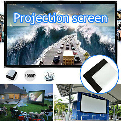 8E56 Foldable Projection Curtain Projection Screen Squares Conference Room
