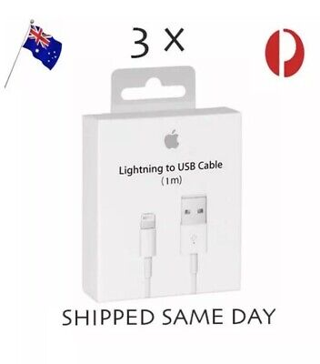 3X Lightning Cable Charger compatible Genuine Apple iPhone 7 Plus 6 5 S 8 X iPad