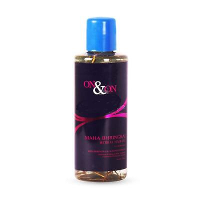 On & On Maha Bhringraj Herbal Hair Oil With Bhringhraj & Almond Extract - 200 ML