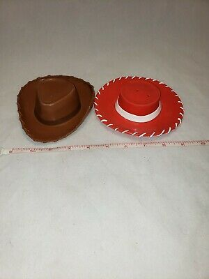 33927a7a4 TOY STORY HASBRO 2001 Pull String Doll Woody and Jessie Hats ...