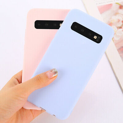 Soft TPU Candy Color Phone Case For Samsung Galaxy S10 Plus S10e A6 A8 Plus 2018