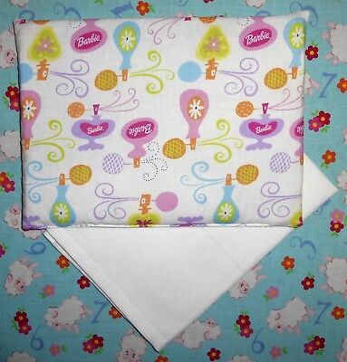 New Barbie perfume bottles toy pram cot bed sheet and pillow set baby doll