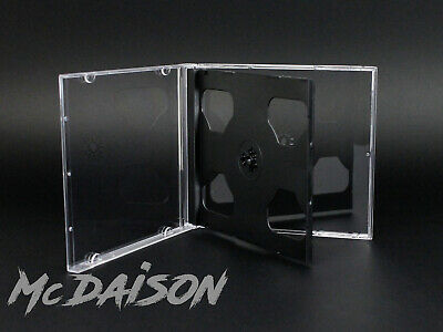 10 pz custodia 2 CD doppia Jewelcase + tray nero 10 mm slim sottile CD musicali