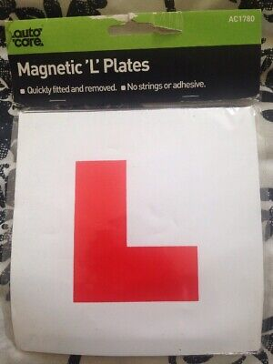 Genuin 2 x L Plate Fully Magnetic Exterior Car Learner Secure & Safe Legal Size