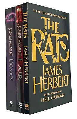 James Herbert 3 Books Rats Series Classic Horror Thriller Lair Domain New