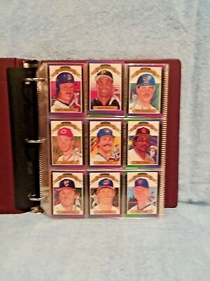 1989 Donruss Complete Baseball Cards Set; Mint Condition In Binder.
