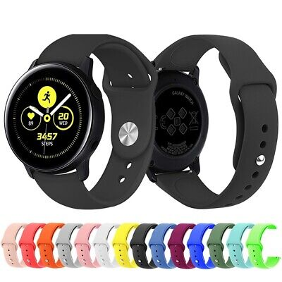 Sport Silicone Watch Band Strap Replacement For Samsung Galaxy Watch Active 40mm