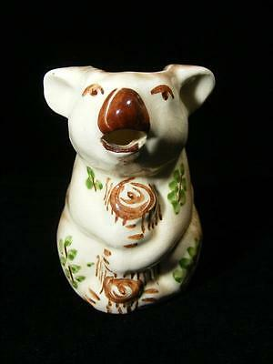 Vintage Australian Pottery Koala Milk Jug Branch Handle Marutomo Wear