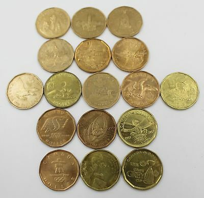 Canada All Commemorative Dollars Loonies Coins. Slightly Circulated. XF. 1 Pc