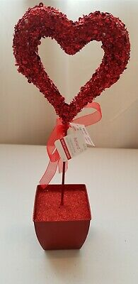 """Ashland Valentines day Red heart Tabletop decor. 15"""" tall × 3 1/2 """" wide"""