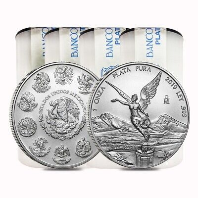 Lot of 100 - 2019 1 oz Mexican Silver Libertad Coin .999 Fine BU (4