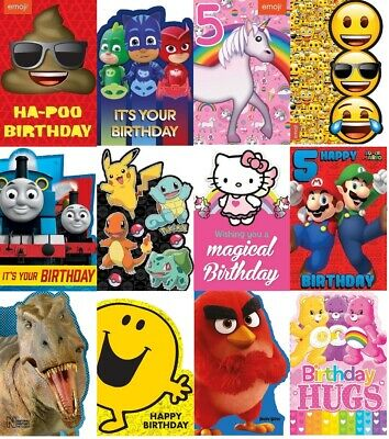 Official Kids Birthday Cards Children Boys Girls Characters Football Age (s)