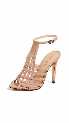 1bfe3c85d3f SCHUTZ CADEY-LEE ANKLE Strap Heels - Women s Size 8B - Natural ...