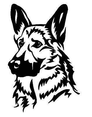 German Shepard Head Dog Vinyl Sticker For Car Wall Laptop Bumper