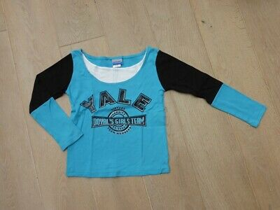 703b7930e5342 TEE-SHIRT MANCHES LONGUES turquoise 9   10 ans fille - EUR 2