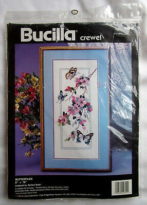 "Bucilla / Barbara Baatz ""Butterflies"" Crewel Embroidery Kit"
