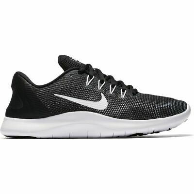 deac82f96065 Nike FLEX 2018 RN Womens Black White AA7408 001 Athletic Training Running  Shoes