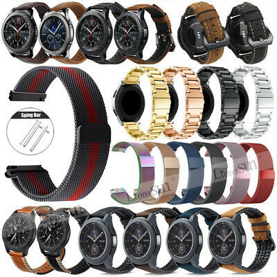 Milanese/Leather/Silicone/Nylon Band Strap For Samsung Galaxy Watch 46mm Active