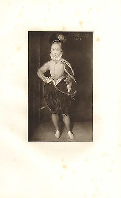 C1900 Imprimé ~ King James Stuart 1ère de Angleterre 6th Écosse ~ Âgé 8 Yearsold