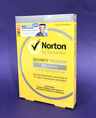 Norton Security Premium Antivirus for 10 Devices 1 Year + bonus Tune Up #2954