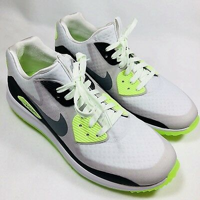 00084298fdee9 Nike Air Zoom 90 IT Mens Sz 9 Spikeless Golf Shoes White Gray Volt 844569-