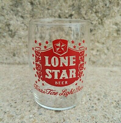 Vintage LONE STAR Mini BARREL BEER GLASS - Texas - Nice Collectible