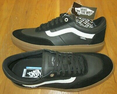 2e916c620b Vans Mens Gilbert Crockett Black White Gum Leather Suede Skate shoes size  12 NWT