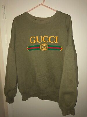 6fb8c3be2af VINTAGE 80 S BOOTLEG Gucci T Shirt Large NOS Supreme Rap Screen ...