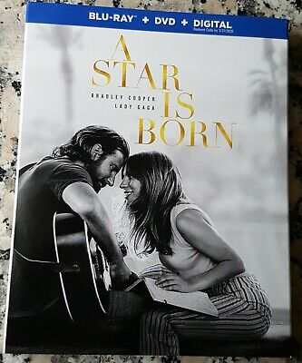 A STAR IS BORN Slipcover BLU RAY ONLY Bradley Cooper Lady Gaga Sam Elliott