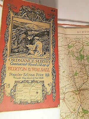 Burton,tamworth,lichfield,walsall:west Midlands 1921: Ellis Martin Ordnance Map