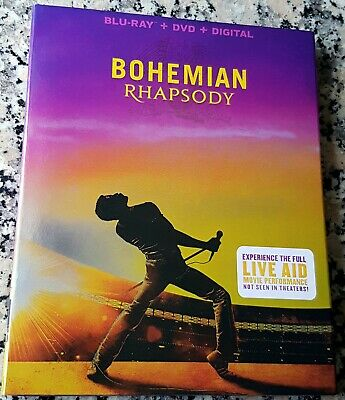 BOHEMIAN RHAPSODY Slipcover BLU RAY ONLY Queen Rami Malek Best Actor Mike Myers