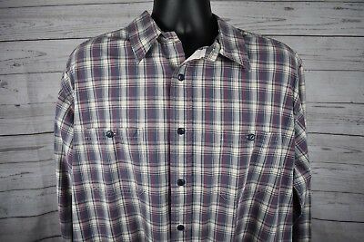 8e760ac2116a American Eagle Outfitters Slim Fit Men's Long Sleeve Plaid Cotton Shirt  Size XL