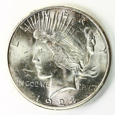 Raw 1923-S Peace $1 Uncertified Ungraded San Francisco Mint Silver Dollar Coin