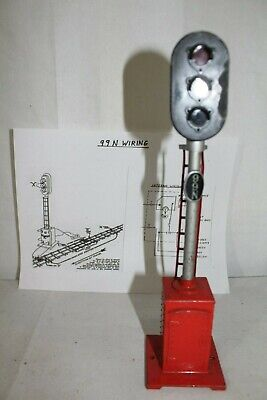 Excellent Vintage Prewar Lionel O Gauge No 153 Automatic Block Signal With Wiring Database Brom4X4Andersnl