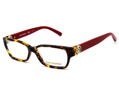 4db0c3f69c44e Tory Burch Eyeglasses TY 2025 3152 Tortoise Red Rectangular Frame 51  14 135