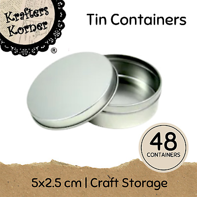 48 x TIN STORAGE CONTAINERS Craft Storage Container Candle Making Beauty Product