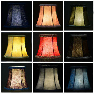 Velvet Lampshade Fabric Desk Ceiling Candle Light Bulb Clip Cover