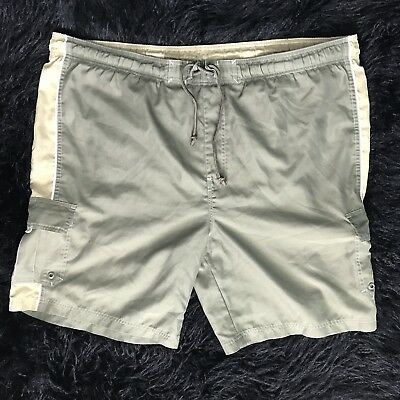 7772097eba Sonoma Mens XXL 2XL Khaki Green Beige Mesh Lined Swim Trunk Bored Cargo  Shorts