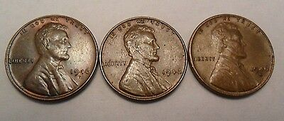 1946 P D S Lincoln Wheat Cent / Penny Set   *FINE OR BETTER*  **FREE SHIPPING**