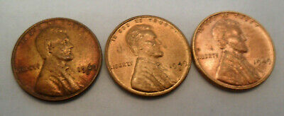1949 P D S Lincoln Wheat Cent / Penny Coin Set  *FINE OR BETTER* *FREE SHIPPING*