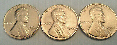 1953 P D S Lincoln Wheat Cent / Penny Coin Set  *FINE OR BETTER* *FREE SHIPPING*