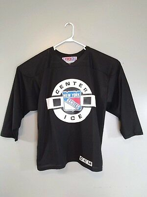 NEW YORK RANGERS Hockey CCM Center Ice Jersey NHL Black Men s Large Mesh  Vintage a2ad1e9b6