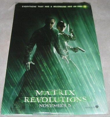 "MATRIX REVOLUTIONS Orig DS 1SH Advance Movie Poster 2003 27""x40"" KEANU REEVES"