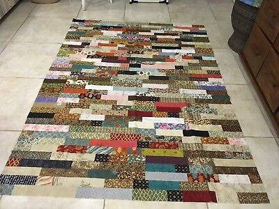 Unfinished Quilt Top 55 X 75 Inches Approx